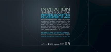 INVITATION - Samedi 11 Juin - Portes ouvertes du centre Le 400 - Saint-Viance
