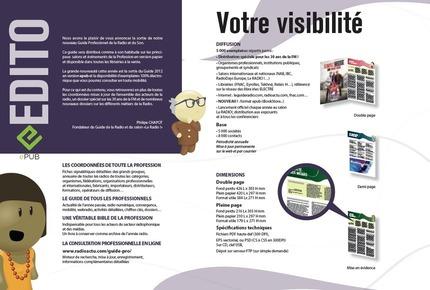 Tarifs du Guide Professionnel de Radio et du Son 2012