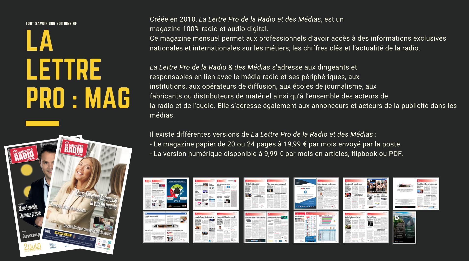 La Lettre Pro de la Radio et des Médias - Le MAGAZINE